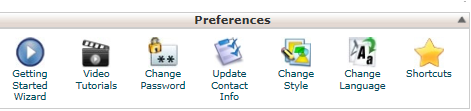 preferences cpanel